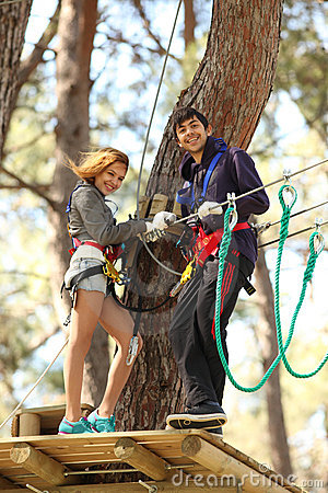 Free Couple In Adventure Park Stock Images - 13471584