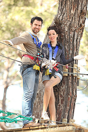 Free Couple In Adventure Park Royalty Free Stock Photos - 13471998