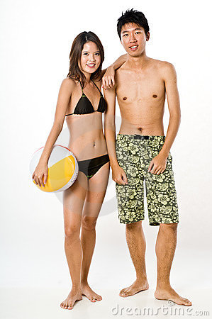 Free Couple In Beachwear Stock Photo - 2993150