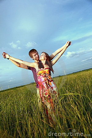 Free Couple In Field Stock Photo - 10849560