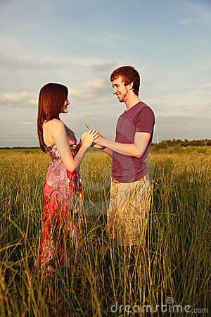 Free Couple In Field Stock Photos - 18911833