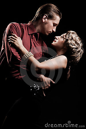 Free Couple In Retro Style Dancing Royalty Free Stock Photos - 10224808