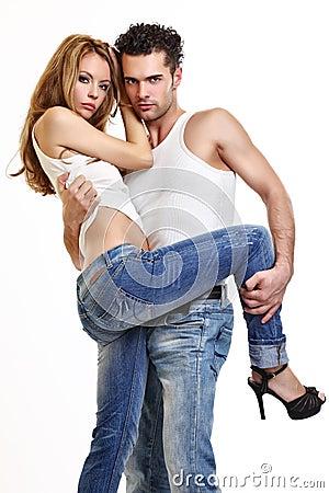 Free Couple In Studio Stock Photos - 16858083