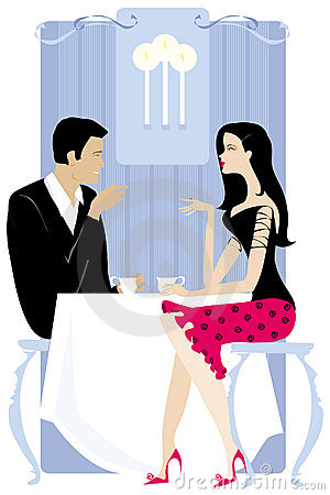Free Couple In The Restaurant Royalty Free Stock Photography - 840117