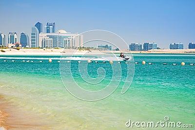 Couple on the jetski ride in Abu Dhabi