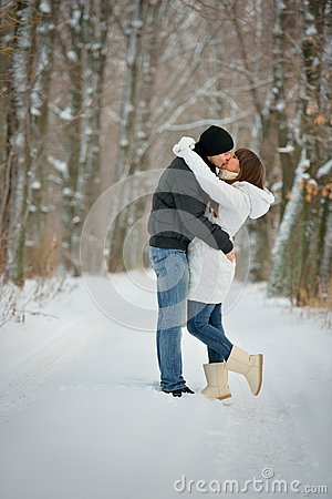 Couple in a kiss