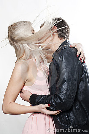 Free Couple Kissing In The Wind Stock Images - 16919734