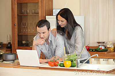 Couple in a kitchen