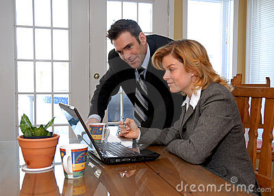 Couple with laptop