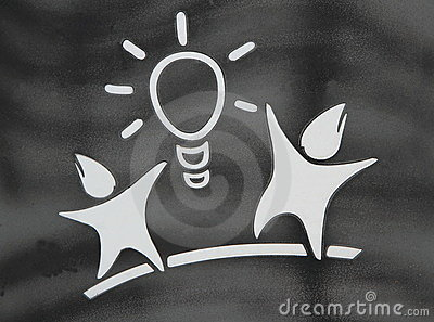 Couple with the light symbol