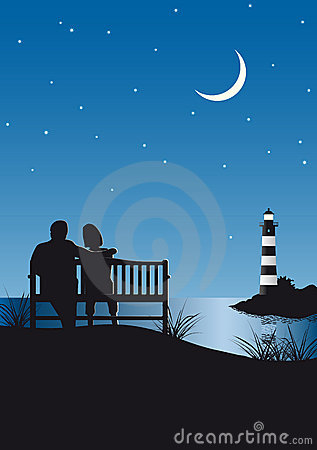 Couple an Lighthouse