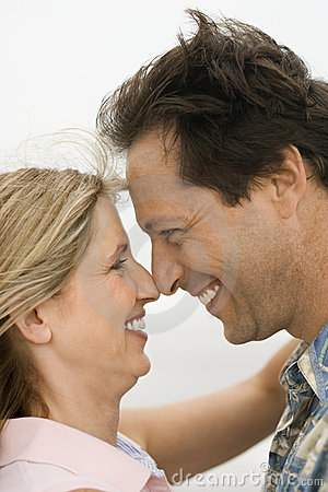 Couple looking into each other s eyes.