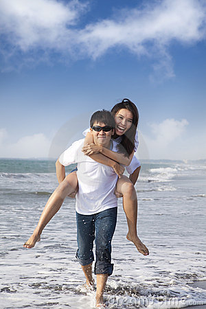 Couple in love enjoy  summer holiday