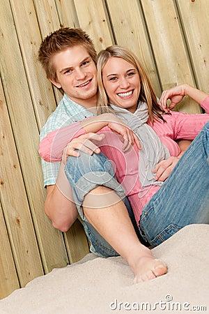 Couple in love - happy  enjoy summer