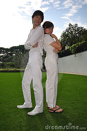 Couple in Love posing with each other