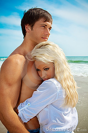 Couple in love on vacation
