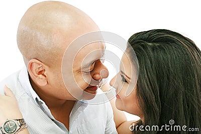Couple lovingly