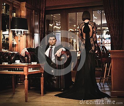 Couple in luxury interior