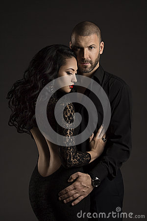 Free Couple Man And Woman In Love, Fashion Beauty Portrait Of Models Royalty Free Stock Photography - 51157377
