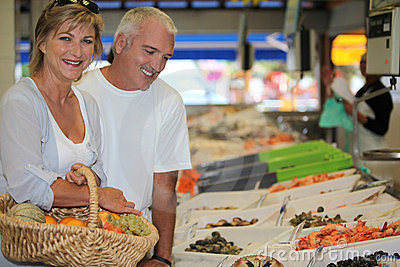 Couple at the market