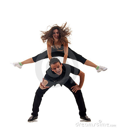 Couple of modern dancers