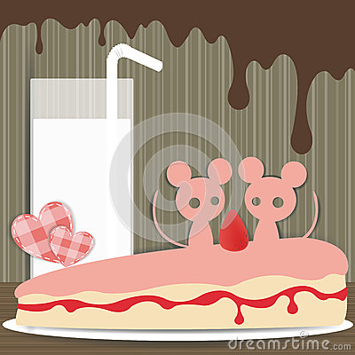 Couple mouse paper background