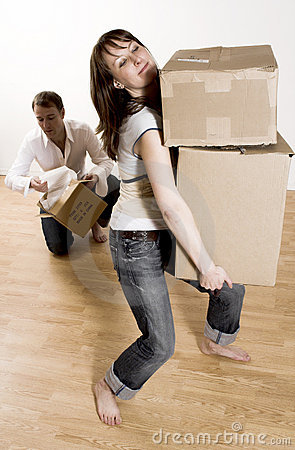 Free Couple Moving In Appartment Stock Image - 2251451