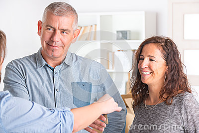 Couple at new home