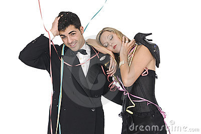 Couple after a new year party