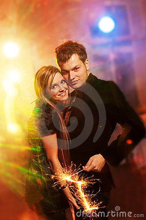 Couple in the night club