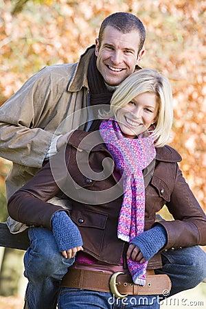 Free Couple On Autumn Walk Royalty Free Stock Photo - 5306525