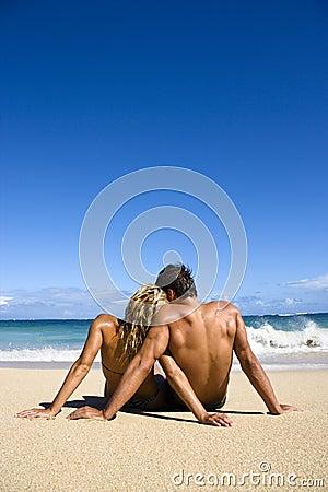 Free Couple On Beach. Stock Photo - 3612870