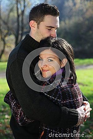 Couple outdoor in autumn