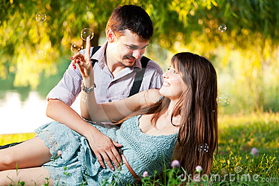 Couple outdoor portrait