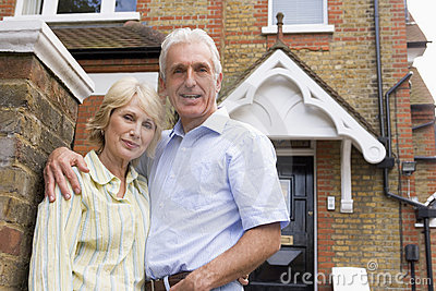 Couple Outside There House