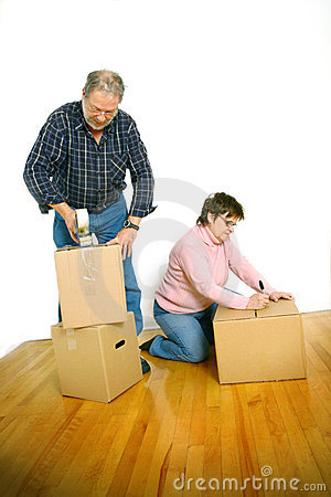Free Couple Packing Boxes Royalty Free Stock Image - 7578846