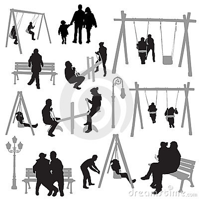 Couple people in park vector