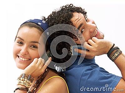 Couple phone.