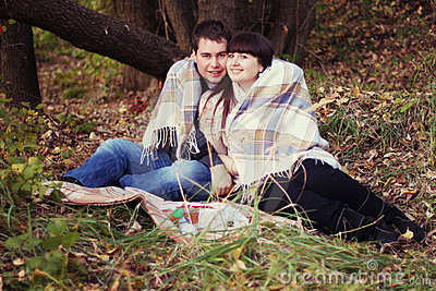 Couple on a picnic