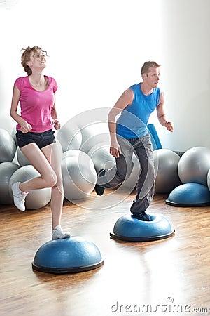 Free Couple Pilates Workout Stock Photo - 16983270