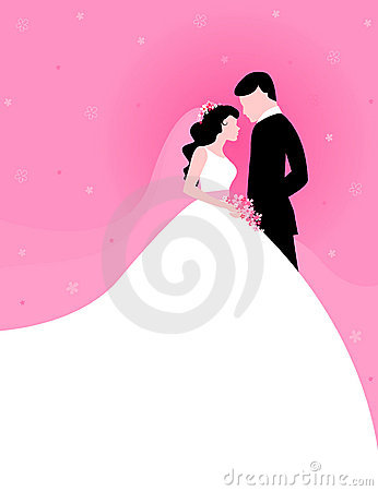 Couple with pink background