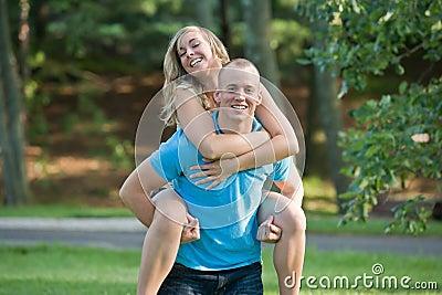 Couple Playing Around