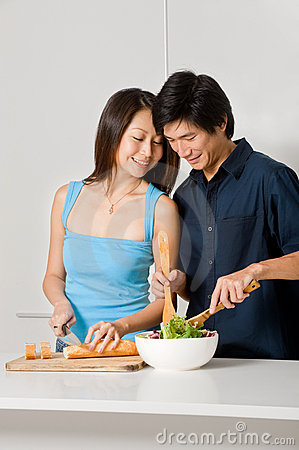 Couple Preparing Meal