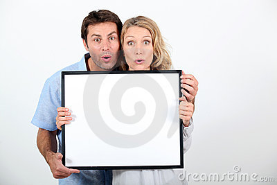Couple pulling a funny face