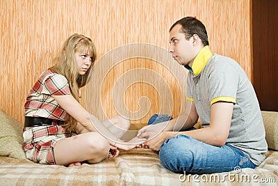 Couple after quarrel