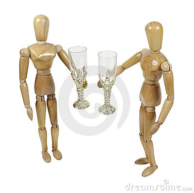 Couple Raising a Glass to Each Other