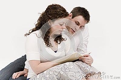 Couple reading