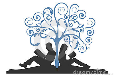 Couple Reading Under Tree