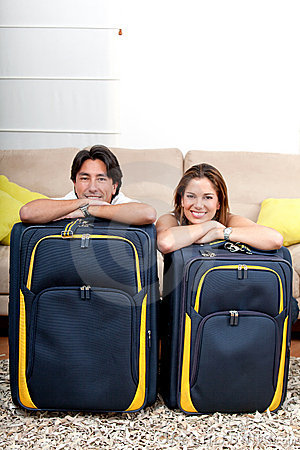 Couple ready to travel
