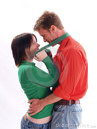 Couple in Red and Green
